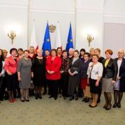 Rada ds. Kobiet i Rodzin z Obszarów Wiejskich w Pałacu Prezydenckim w dniu 8 marca 2015 r.