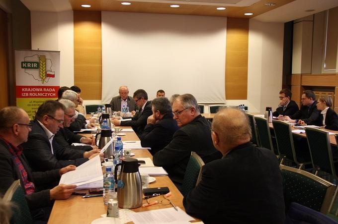 II posiedzenie Nadzwyczajnej Komisji Problemowej KRIR do spraw opracowania propozycji rozwiązań dotyczących strat w rolnictwie spowodowanych przez zjawiska atmosferyczne, ubezpieczeń rolnych, szkód łowieckich i ustroju rolnego