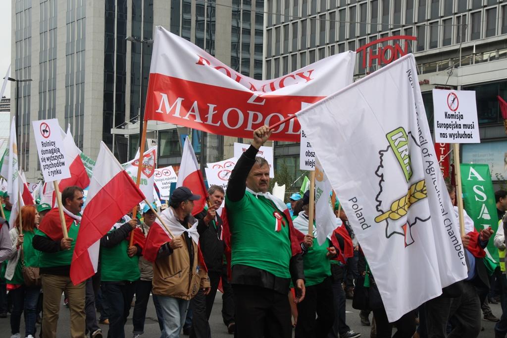Polscy rolnicy protestowali w Brukseli