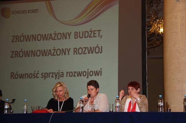Wiceprzewodnicząca Rady ds. Kobiet i Rodzin z Obszarów Wiejskich przy KRIR panelistką VI Kongresu Kobiet