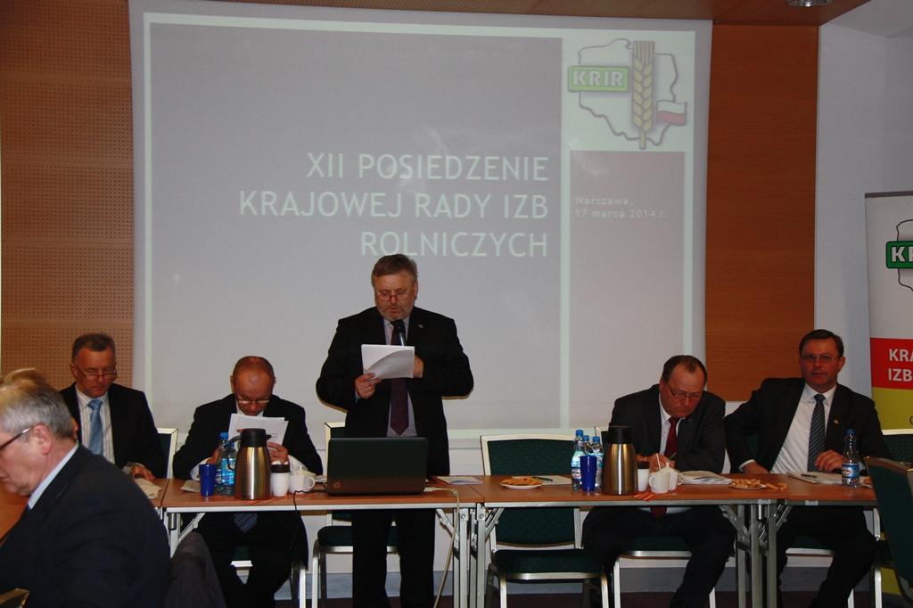 XII Posiedzenie Krajowej Rady Izb Rolniczych