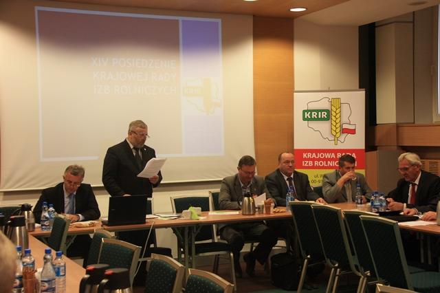 XIV Posiedzenie Krajowej Rady Izb Rolniczych, 1 października 2014 r.