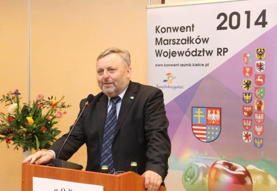 Prezes KRIR na obradach Konwentu Marszałków Województw RP