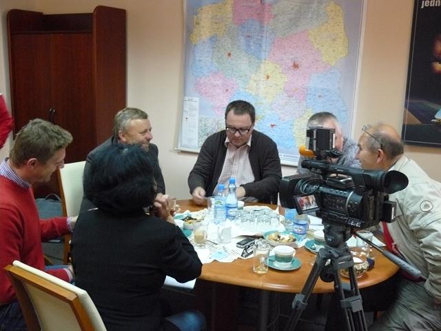 Rozmowy Prezesa KRIR z czeskimi oraz słowackimi dziennikarzami